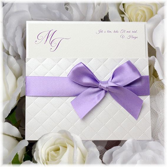 Luxusné svadobné oznámenie s mašľou