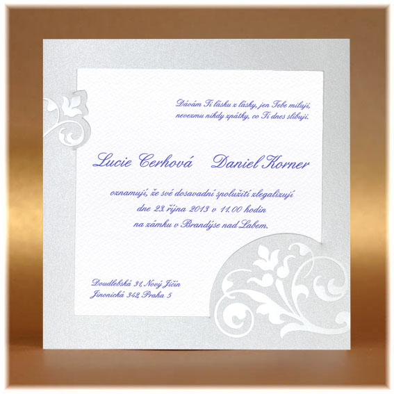 Pearl Wedding Invitations simple card