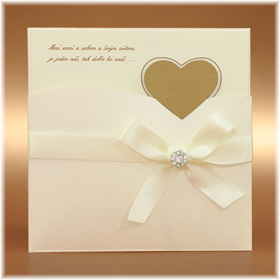 Wedding Invitations with bow and buckle