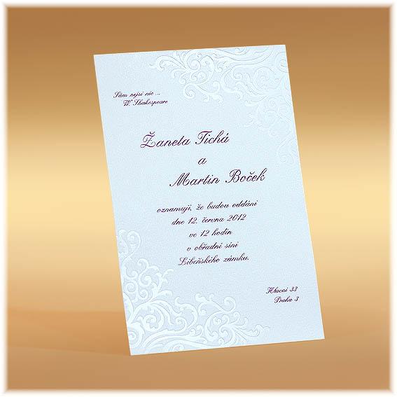 Classic Simple Wedding Invitations
