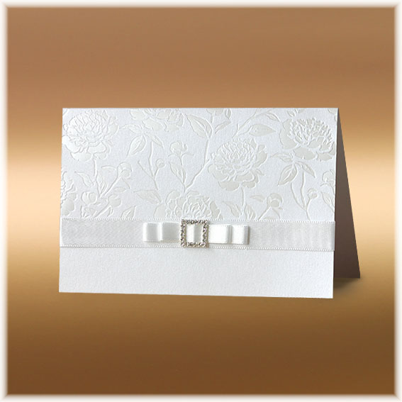 Luxury Wedding Invitation with flowers
