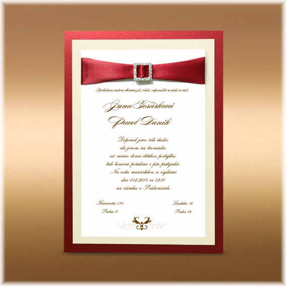 Wedding Invitations red claret