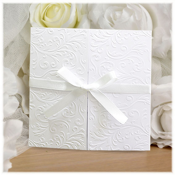 Elegant Ribbon Wedding Invitations