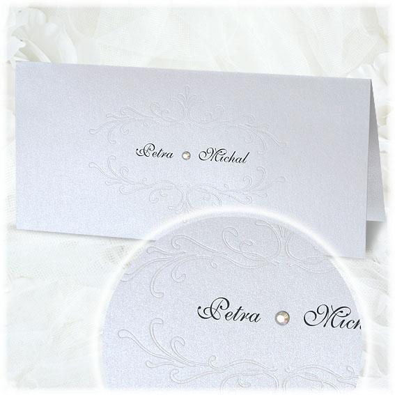 Svadobné oznámenia s ornamentom