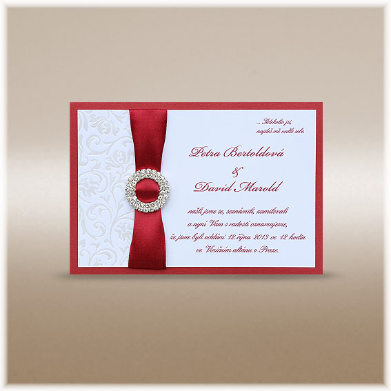 Luxury Wedding Invitation with Buckle