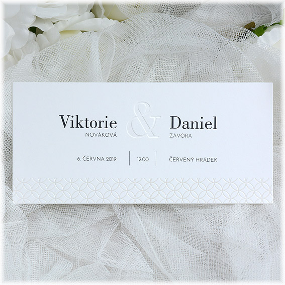 Wedding invitation from very strong cotton paper