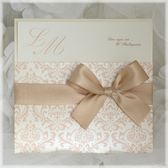 Luxury Wedding Invitations with ribbon bow