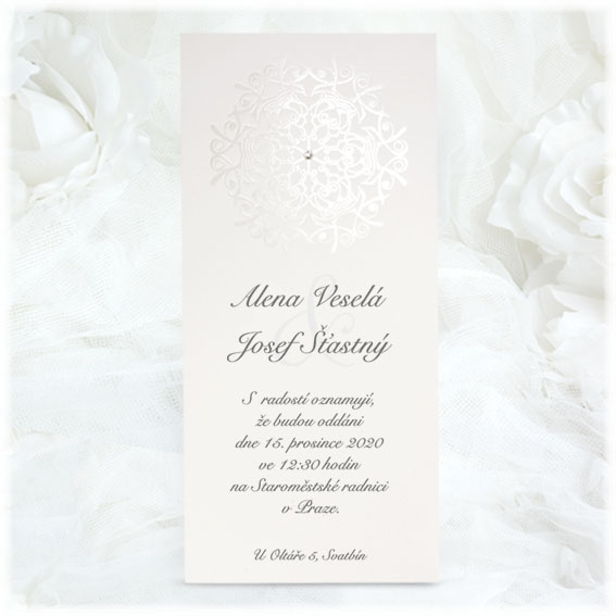 Modern simple wedding invitation