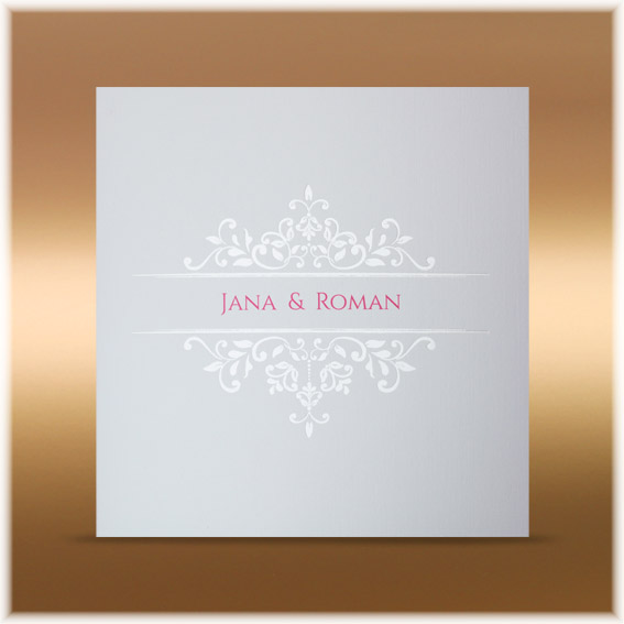 Elegant wedding invitation with shiny ornaments