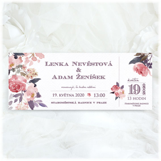 Wedding invitation as ticket