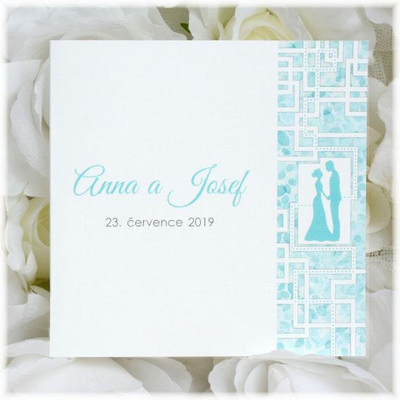 Wedding invitation as maze