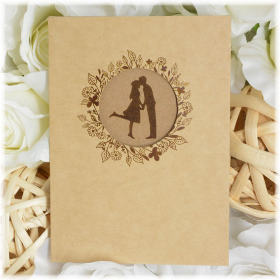 Wedding invitation with young pair