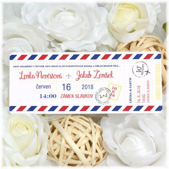 Wedding invitation as a flyticket