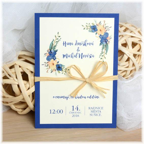Wedding invitation with jute