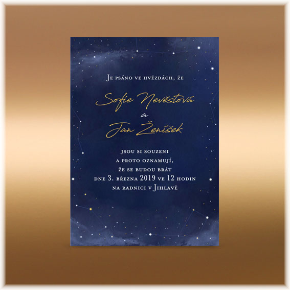 Wedding Invites Stars