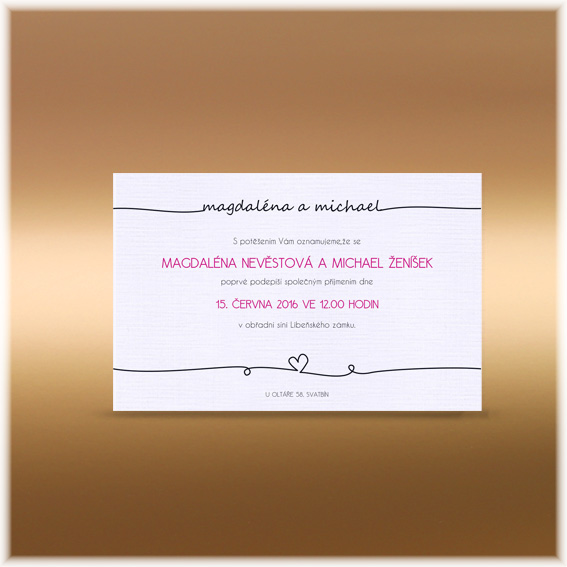 Wedding invitation - Names in the line