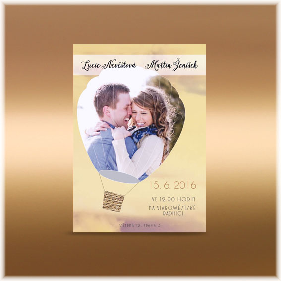 Baloon Photo Wedding Invitations