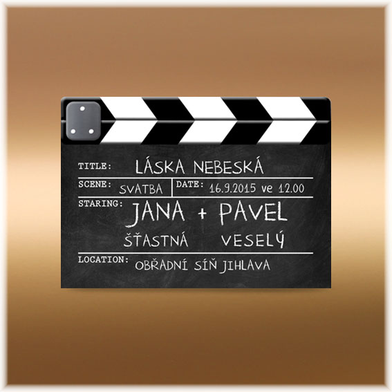 Wedding Invitation Film Flap
