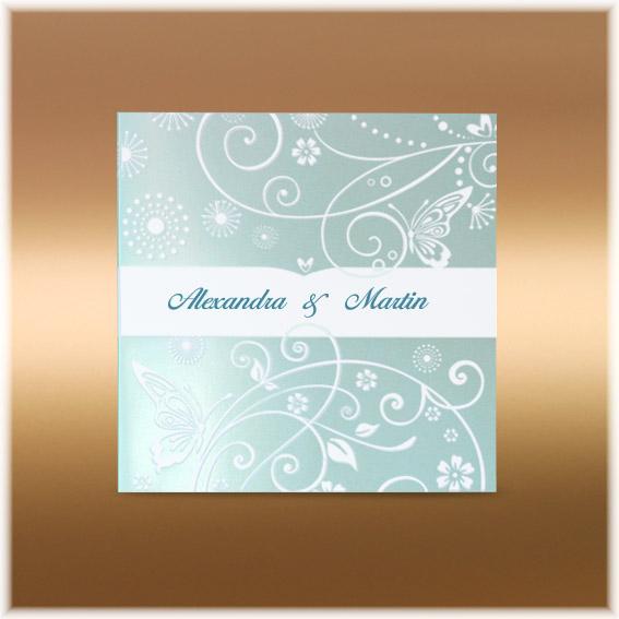 Mint wedding invitations