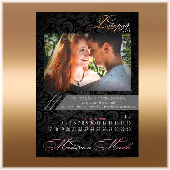Photo Wedding Invitation - calendar