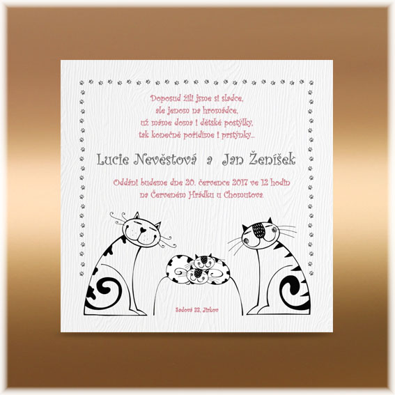 Cat Wedding Invitations