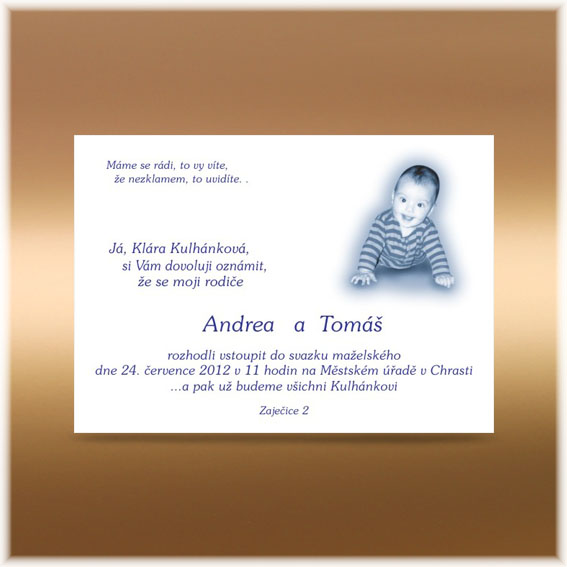 Wedding Invitation announce child