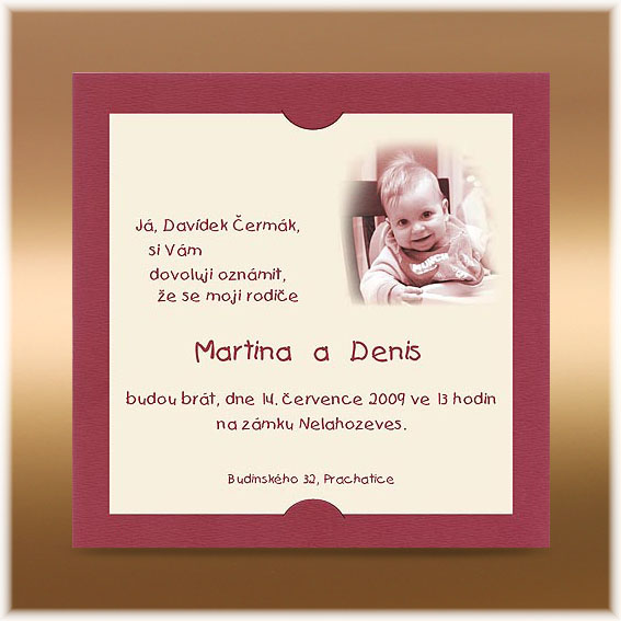 Claret Wedding Invitations