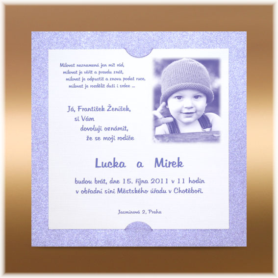 Modern Child Wedding Invitations