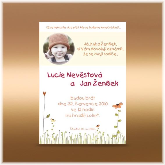 Photo Wedding Invitation child