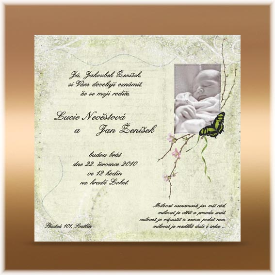 Romantic  Child Wedding Invitation