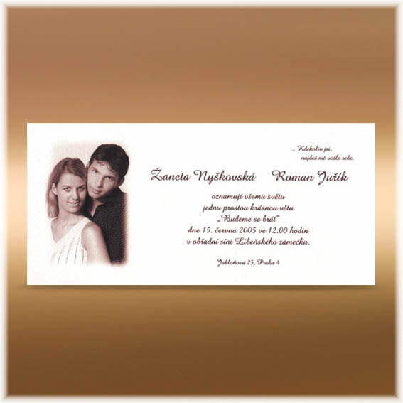Photo Wedding Invitations brown
