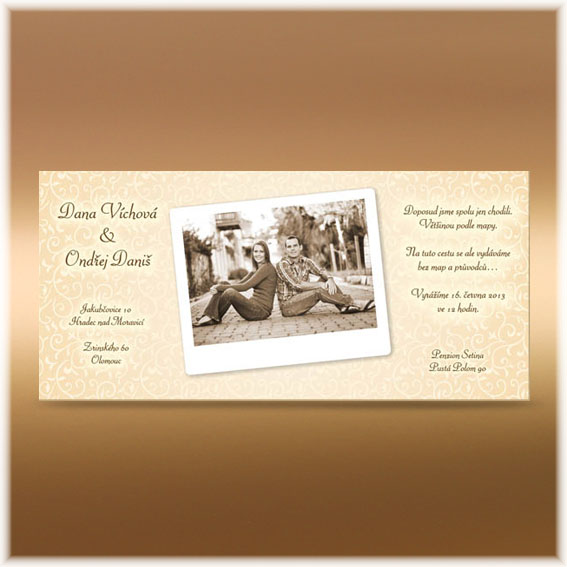 Photo Wedding Invitations ivory