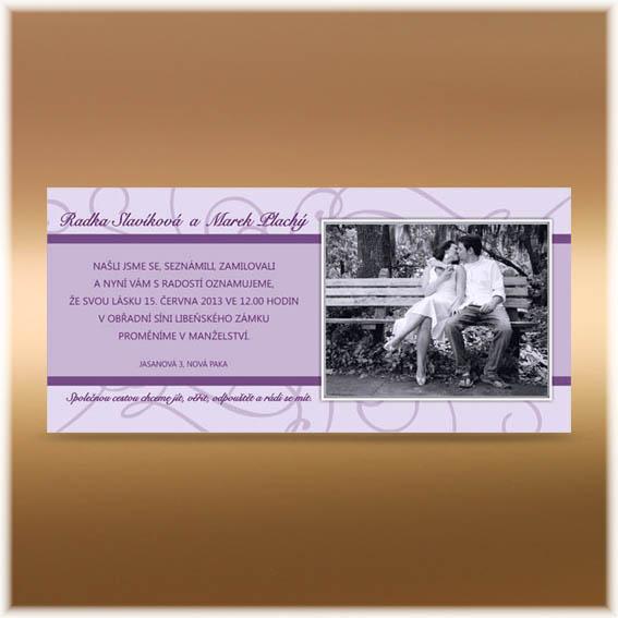 Purple Photo Wedding Invitations