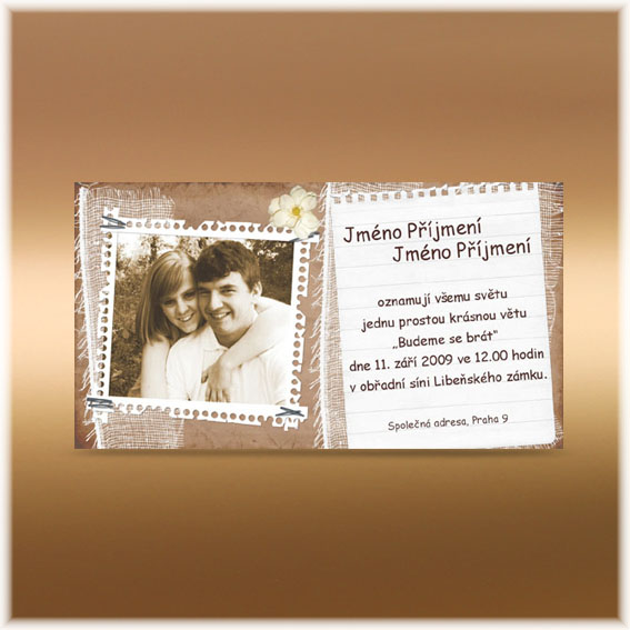 Photo Nature Wedding Invitations