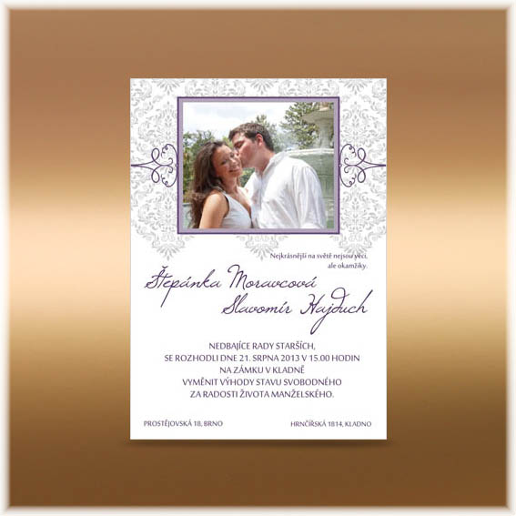 Simple Photo Wedding Invitation