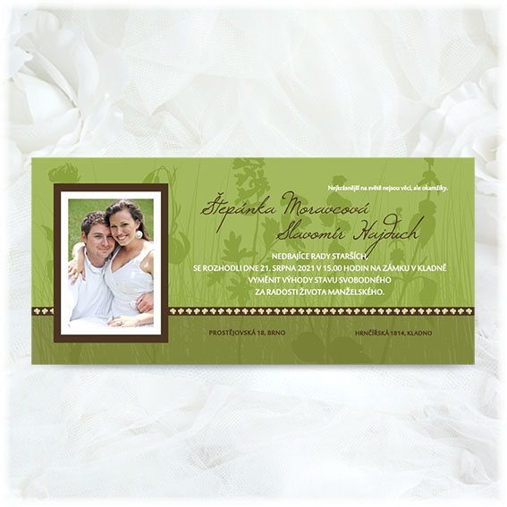 Wedding Invitation Green