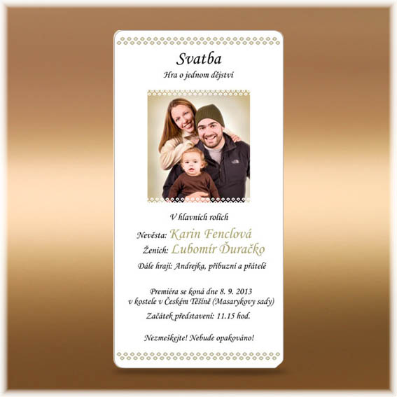 Simple photo Wedding Invitations