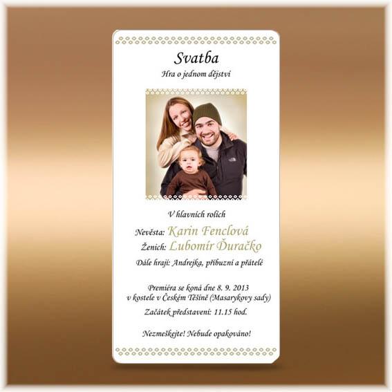 Simple photo Wedding Invitations