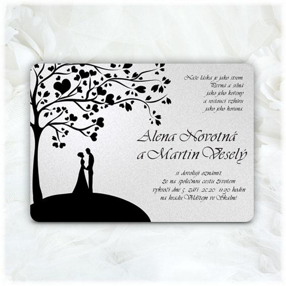 Svadobné oznámenia strom pár