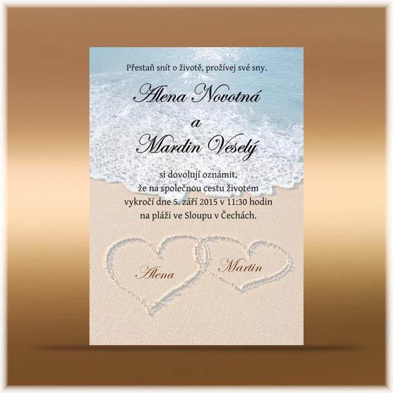 Svatební oznámení pláž