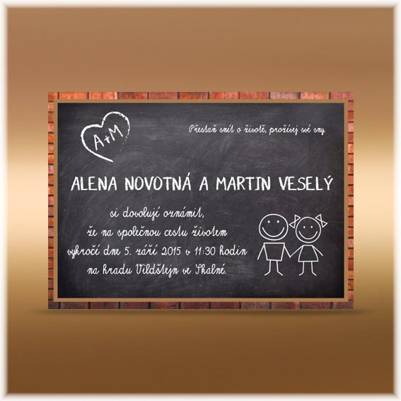 Wedding Invitation blackboard