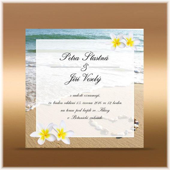 Svatební oznámení frangipani Mauricius
