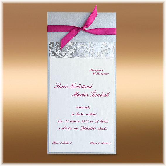 Classic Wedding Invitation Silver