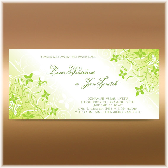 Apple Green Wedding Invitation