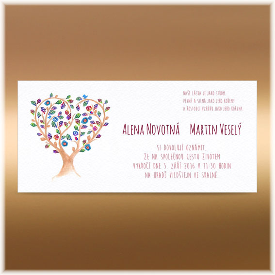 Tree Heart Wedding Invitation