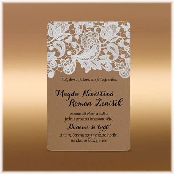 Lace rustic Wedding Invitations