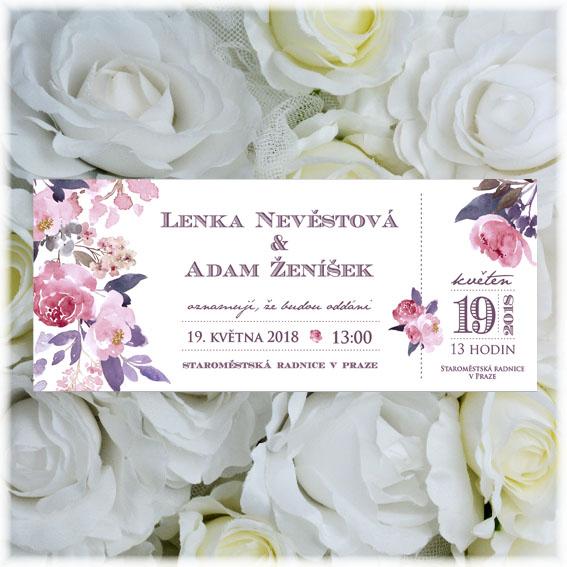Svadobné oznámenia vstupenka